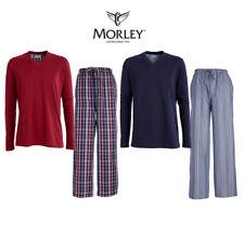 Morley para hombre Brooklands Algodón Largo Pijamas Ropa De Dormir Loungewear US15M