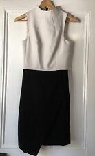Portmans size 6 Monochrome black white High neck sheath dress Sleeveless