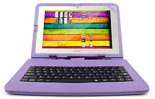 Premium Quality QWERTY Keyboard Case for Archos 101 XS & XS 2 in Purple