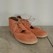 Camper womens suede shoes size 36 US 6 peach lace up loafers hightop ankle shoe