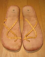 Luichiny Womens Tan Thong Strappy Sandals 39 Eur 8 US