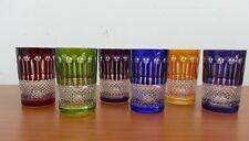 verre en cristal de couleur coffret de 6 verres a thé poeles marmite couteau eau