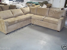 Pottery Barn PB square arm modular sectional sofa oat everyday suede new 103x101