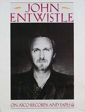 The Who John Entwistle 1981 ATCO Records Original Promo Poster SD38-142