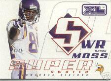 2002 RANDY MOSS UPPER DECK SUPER SWATCH XL JERSEY  /75