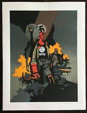 HELLBOY Giclee PRINT Mike Mignola SIGNED Art 2014 poster comic movie BPRD RARE
