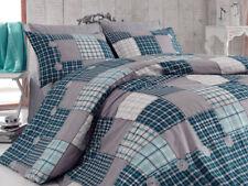 4 tlg Bettwäsche Bettgarnitur Bettbezug 100% Baumwolle Kissen 200x220 cm EKSE BL