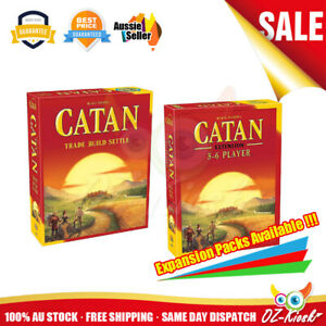 AU Catan 5th Edition Trade Build Settle and 5-6 Player Extension Board Card Game