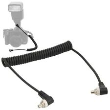 100cm Male to Male Flash PC Sync Cable Screw Lock for Canon/Nikon and Flashlight