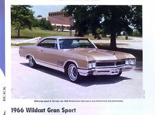 1966 Buick Wildcat Gran Sport GS 425 ci 340 hp info/specs/photo price sheet 11x8