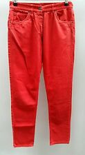 Jeans Size 42/14 Made in Italy Red Skinny Slim <C2554
