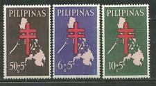 PHILIPPINES B23-25 MNH MAP OF PHILIPPINES & CROSS