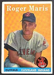 ROGER MARIS 1958 TOPPS #47 CLEVELAND INDIANS