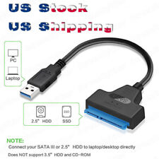 "USB 3.0 To 2.5"" SATA III Hard Drive Adapter Cable-SATA To USB3.0 Converter Black"