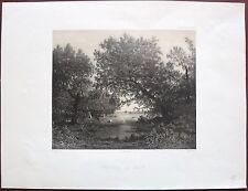 Lithographie, Entrée du bois, Eugène Louis Pirodon, d'après Philippe Rousseau
