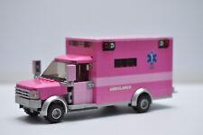 LEGO Friends Ambulance EMT Medic Truck pink Star of life Custom Speed Champions