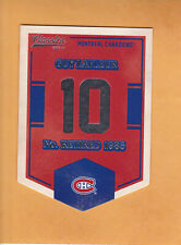 2012 13 CLASSIC SIGNATURES BANNER NUMBERS # EN42 GUY LAFLEUR MONTREAL CANADIENS