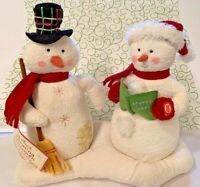 Hallmark Christmas Snowman Jingle Pals Animated Musical Duet Caroling Plush Tag