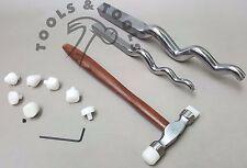 Juego de 3 piezas 2 X sinusoidal estacas de S & M, 9 puntas de Nylon/herramientas de joyería cabezas martillos