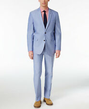 $752 TOMMY HILFIGER men BLUE FIT 2 BUTTON PIECE SUIT JACKET COAT PANTS 40 L