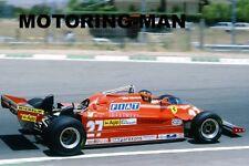GILLES VILLENEUVE FERRARI PHOTOGRAPHS FIVE 5 PHOTOGRAPH SET F1 MOTORING-MAN 312