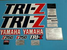 YAMAHA TRI-Z250 1986 FENDER SHROUD DECAL GRAPHIC SET (#Y35)
