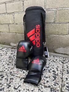 Boxsack für Kinder Adidas mit Boxhandschuhen - Set - Schwarz/ Rot