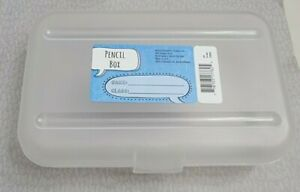 School Pencil Box Plastic Case School Home Office Space Maker Clear Container US
