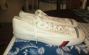 VTG PRO KEDS mens SZ 12M white canvas lo rise athletic shoes