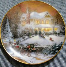 """""""All Friends Are Welcome"""" Thomas Kinkade Old Fashioned Christmas Collector Plate"""