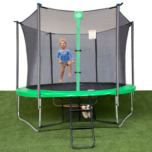 Jump Tastic 10ft Trampoline Combo Bounce with Shoes Bag,  Ladder,  Enclosure