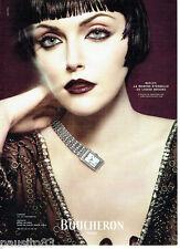PUBLICITE ADVERTISING 1016  2007   Boucheron montre Reflet Louise Books