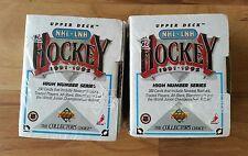 1991-92 Upper Deck High Number Series Hockey Set- Sealed - Lot of 2