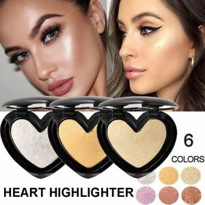 Women Face Foundation Shimmer Highlighter Powder Bronzer Makeup Shine Contour