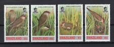 WWF Swaziland Wild Animals Waxbill Birds set clean MNH block of 4