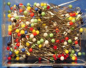 Stecknadeln Prym Pin No. 9 Glaskopf bunt sortiert