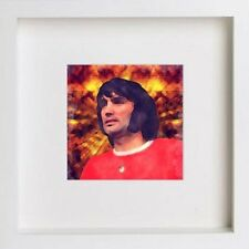Watercolour Print of Manchester United Legends - George Best 23x23cm Frame 134