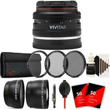Vivitar 50mm f2.0 Lens with Accessory Kit for Sony E-Mount Cameras