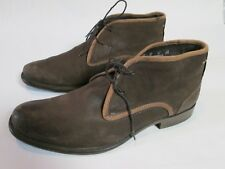 HUSH PUPPIES men's brown leather saddle ankle boots chukka SIZE 11 VERY NICE!!