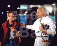 Back To The Future (1985) Michael J Fox, Christopher Lloyd 10x8 Photo