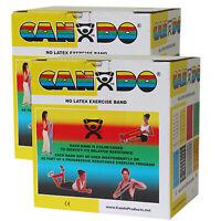 CanDo Latex Free Exercise Band - 100 yard (2 x 50 yard rolls) - Yellow - x-light