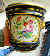 cache pot paris?? bleu de sevres vincennes  chantilly. decor fleuris et dorure