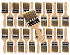 """24PK 2.5"""" Flat House Wall,Trim Paint Brush Set Home Exterior or Interior Brushes"""