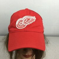 Reebok Center Ice NHL Detroit Red Wings Fitted Fitmax 70 Hat Cap Red Sz S/M