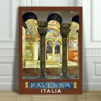 """VINTAGE TRAVEL CANVAS ART PRINT POSTER - Ravenna Italy - 24x16"""""""