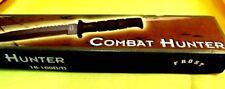 """NIB FROST CUTLERY 18-169B/B 12"""" BOWIE KNIFE W/BLK SS BLADE/NYLON SHEATH/COMPASS"""