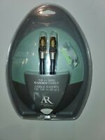 """6 FEET S-VIDEO CABLE  """"AR"""" Acoustic Research Gold-Plated HT121c NIP"""
