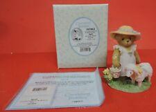 2002 Cherished Teddies April Girl/Eggs/Sheep/Ewe Figurine 107062