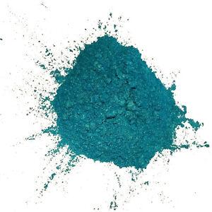 Pigment nacré en poudre BLEU TURQUOISE, à mélanger aux résines époxy, vernis PU