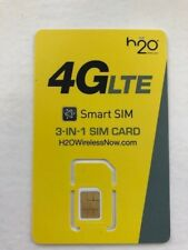 US USA H20 4G LTE 3IN1 SIM CARD WORKS USA BIGGEST NETWORK ATT FREE CALLS TO UK